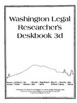 Indian Law Research in Washington by Penny A. Hazelton