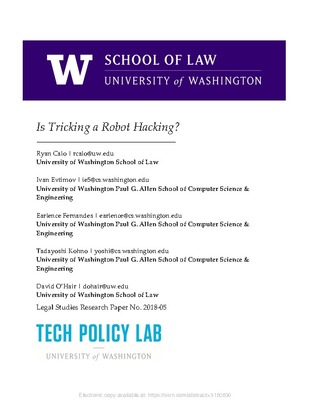 Tech Policy Lab | Centers and Programs | University of Washington